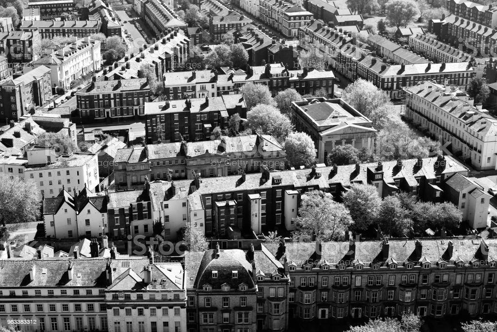 Liverpool Streets Aerial View - Zbiór zdjęć royalty-free (Bez ludzi)