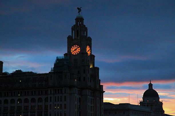 Liverpool Sunrise stock photo