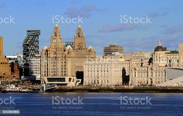 Liverpool Waterfront Stock Photo - Download Image Now