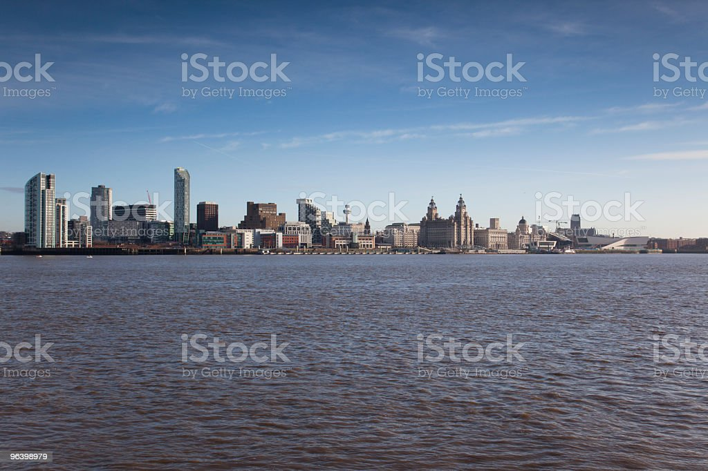liverpool waterfront - Royalty-free Blue Stock Photo