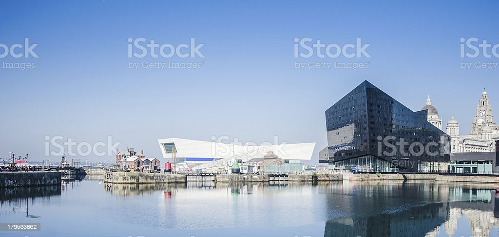 Liverpool waterfront skyline royalty-free stock photo