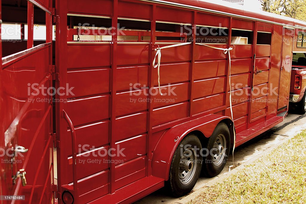 Livestock Trailer royalty-free stock photo
