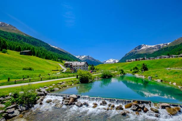 Livigno in summer (Lombardy, Italy) stock photo