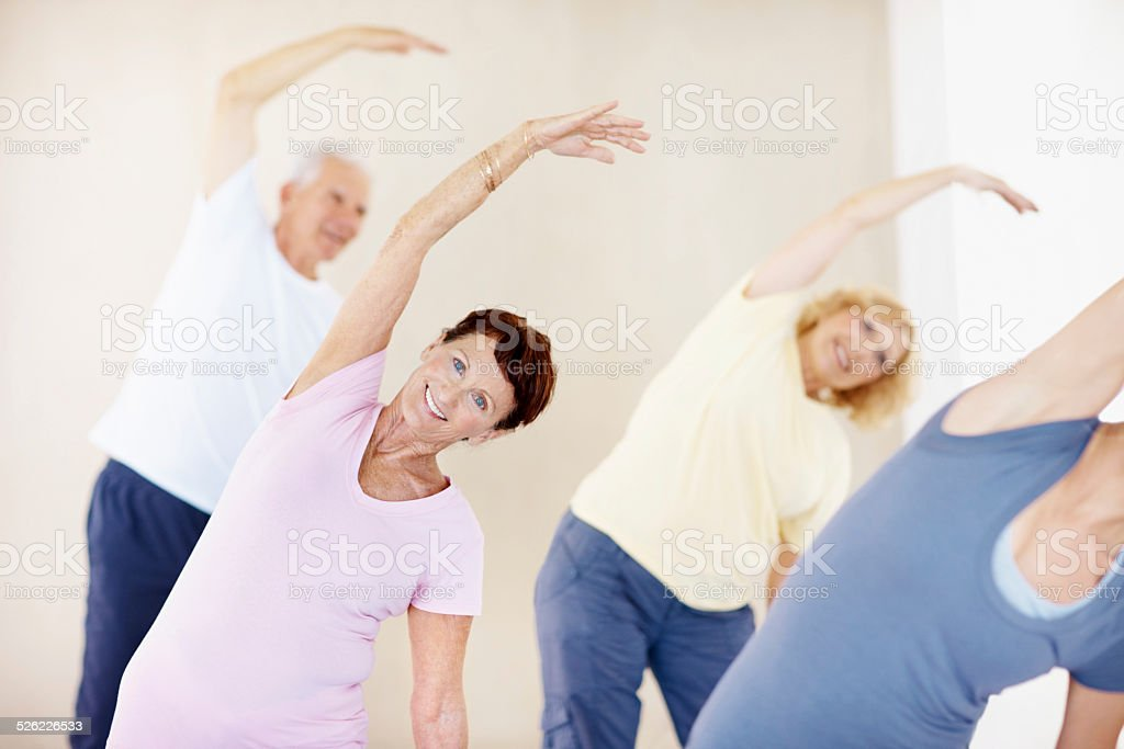 Living a healthy life in retirement stock photo