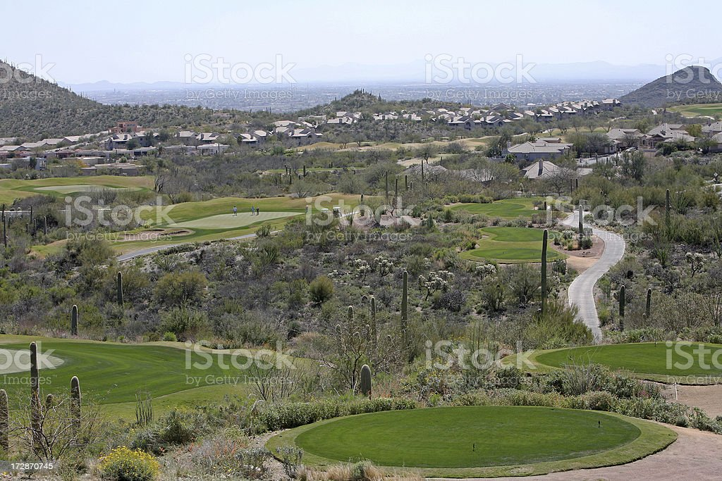 Living and Playing On Starr Pass Golf Course Tucson Arizona royalty-free stock photo