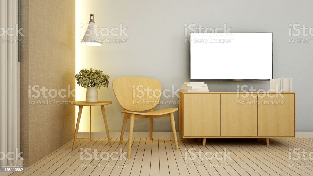 living area in apartment  or condominium - 3D Rendering vector art illustration