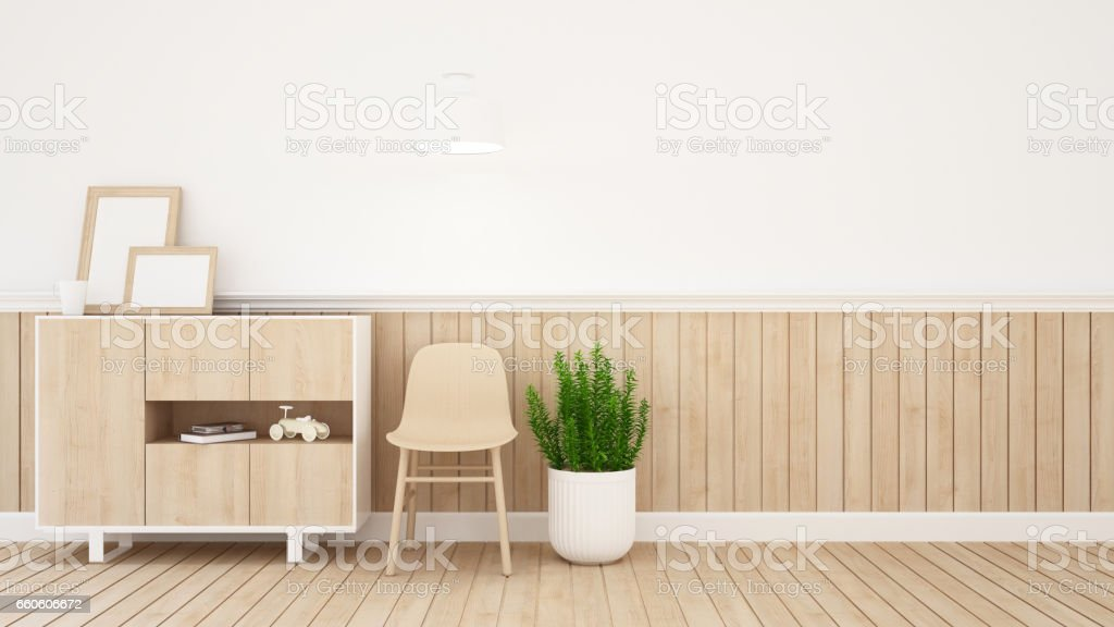 living area in kid room or coffee shop royalty-free stock photo