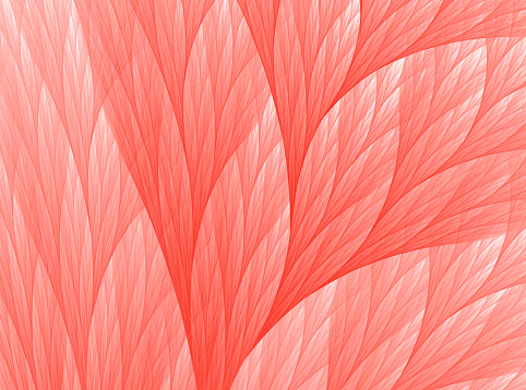 Living Coral Color of the Year 2019 Abstract Reef Fractal Fine Art