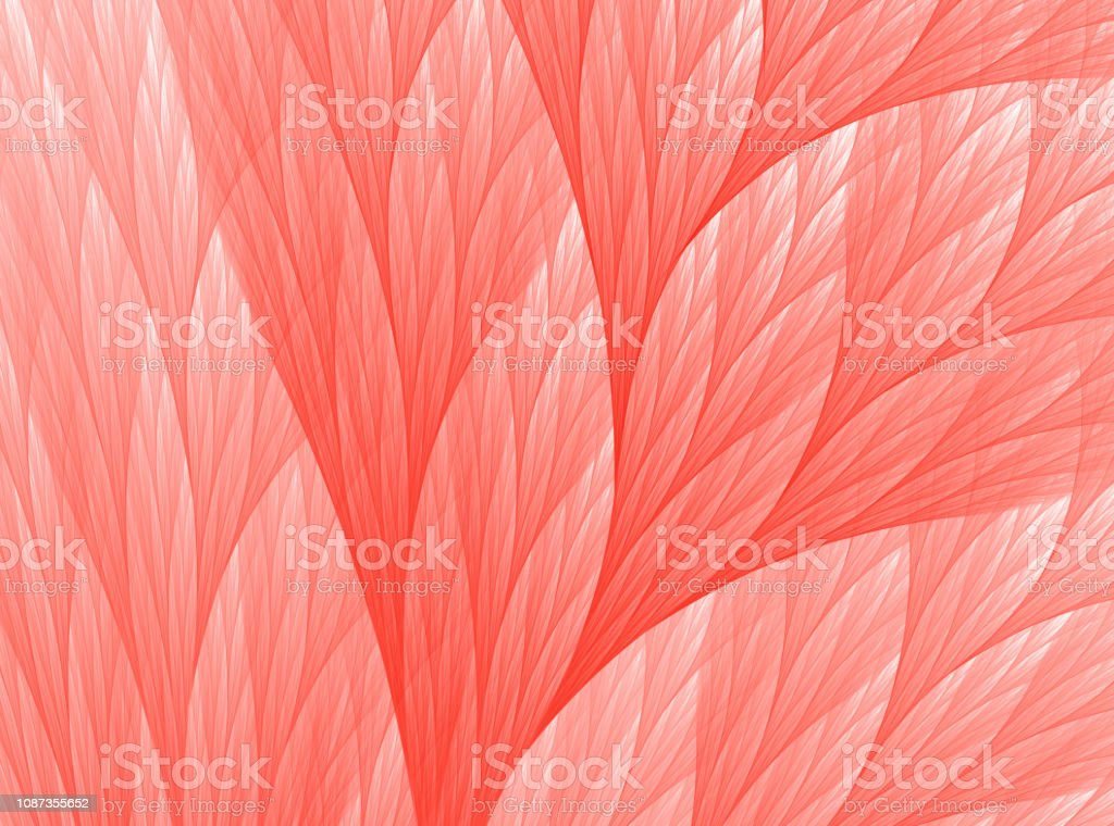 Living Colar Color of the Year 2019 Abstract Reef Fractal Art stock photo