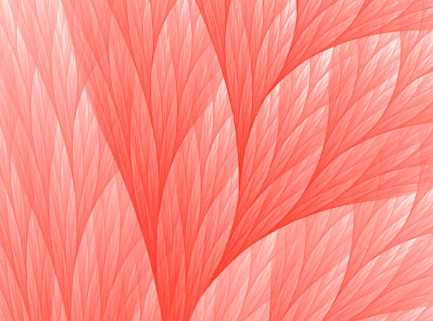 Living Colar Color of the Year 2019 Abstract Reef Fractal Art Living Coral Color of the Year 2019 Abstract Reef Fractal Fine Art coral colored stock pictures, royalty-free photos & images