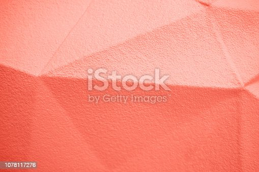 istock Living Coral abstract background. 1078117276
