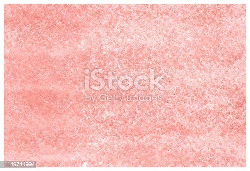 istock Living Coral grunge aquarelle painted paper textured canvas for vintage design, invitation card, template. 1149744994