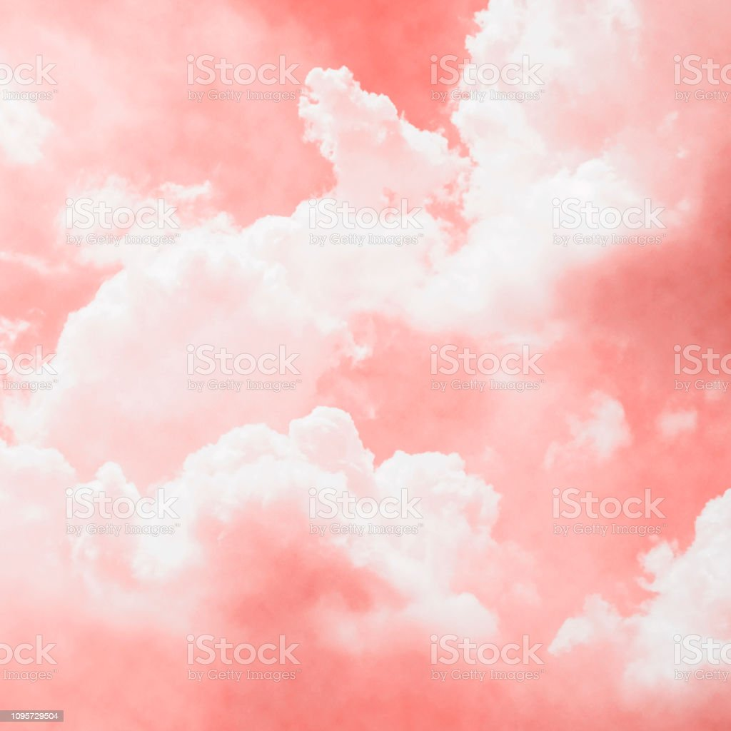 living coral sky with cloud background stock photo download image now istock living coral sky with cloud background stock photo download image now istock