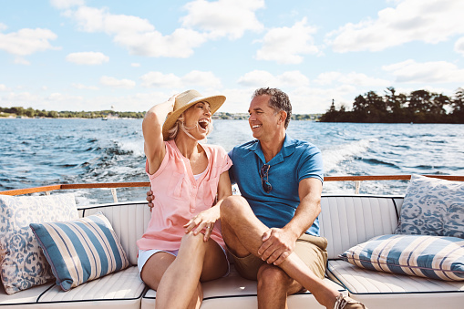 istock Living happily ever after out on a lake 879618496