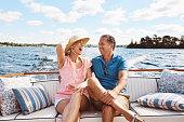 Shot of a mature couple enjoying a relaxing boat ride
