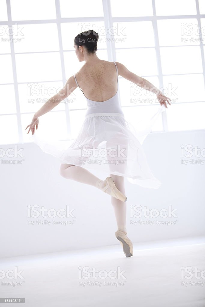 Living her dream royalty-free stock photo