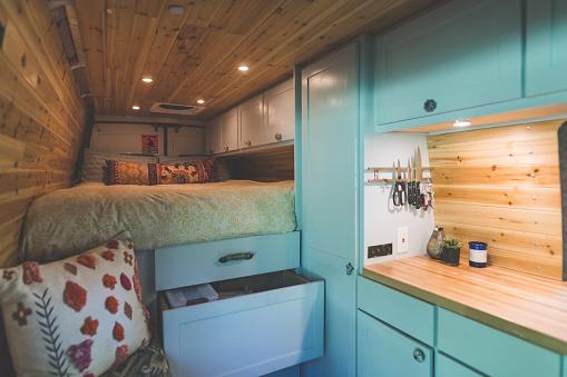 Living In A Van Stock Photo - Download Image Now