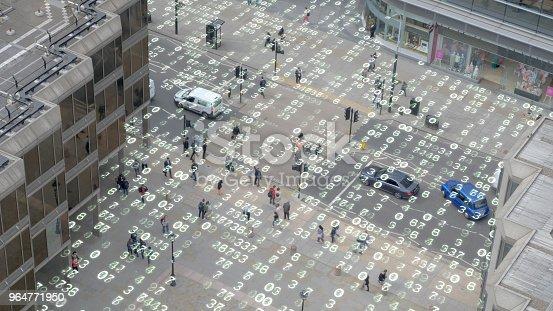 istock Living in an urban matrix data world. 964771950