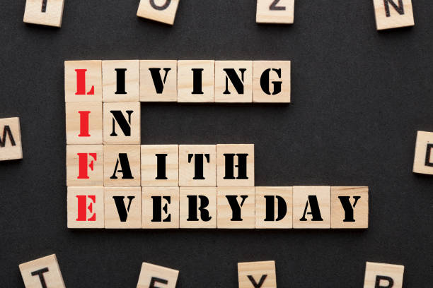 Living In Faith Everyday stock photo