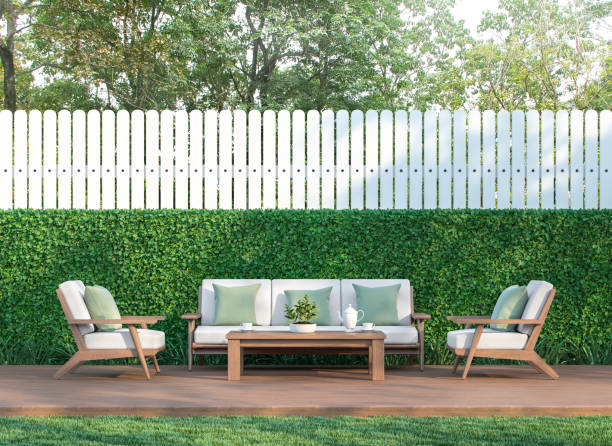Wohnen im Garten 3d render – Foto