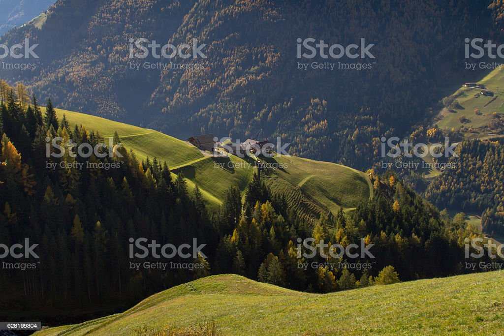 Living In The Mountains stock photo