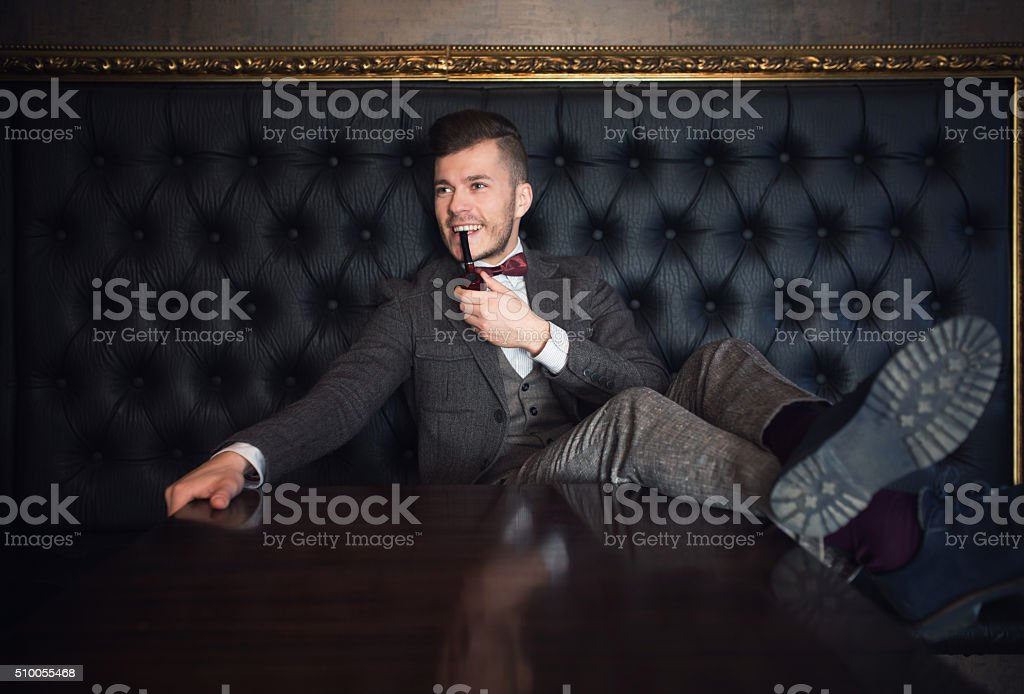 Living Like A Gentleman stock photo