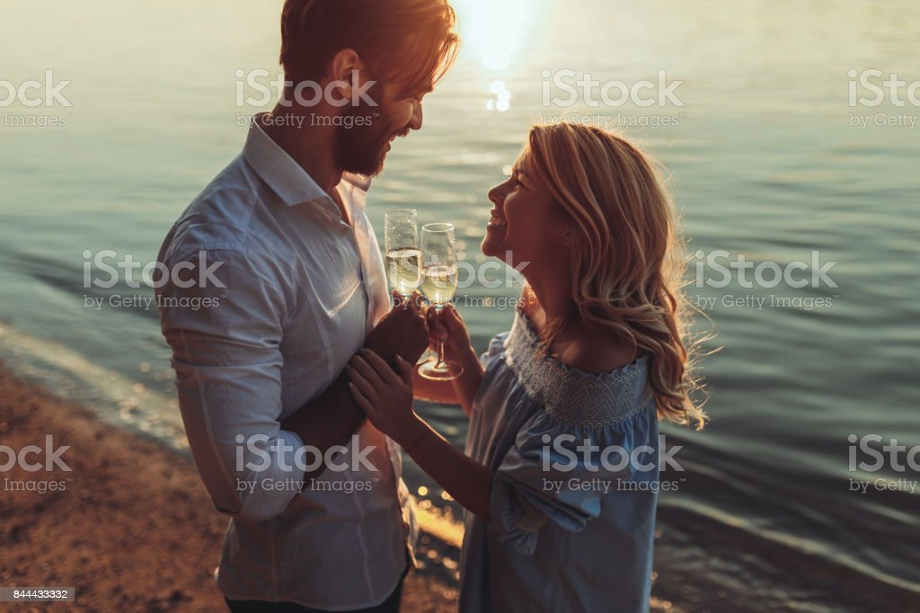 Living, loving and laughing! stock photo