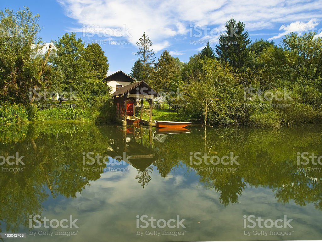 Living on the river bank royalty-free stock photo