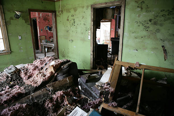 living room after katrina - disintegrate stock pictures, royalty-free photos & images