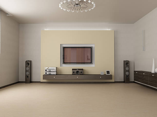 living room and TV  man cave stock pictures, royalty-free photos & images