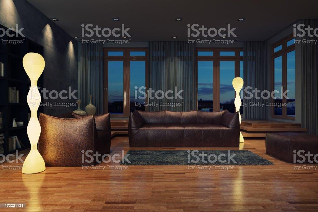 Living Room, à noite - foto de acervo
