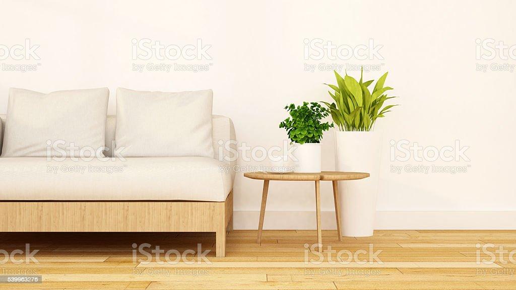 Living room clean design-3D Rendering stock photo