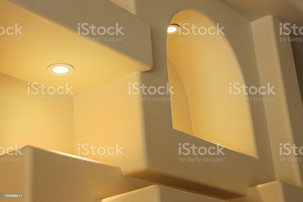 Living Room Decor Home Lighting royalty-free stock photo