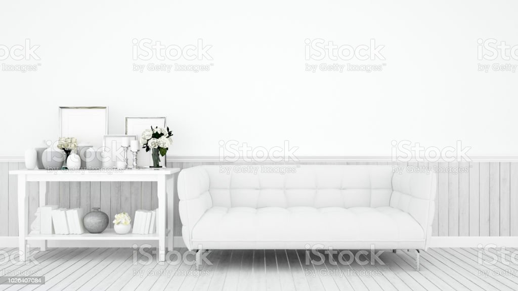 Wohnzimmer Dekoration Auf Weißem Ton Für Grafik Weißen Sofa ...