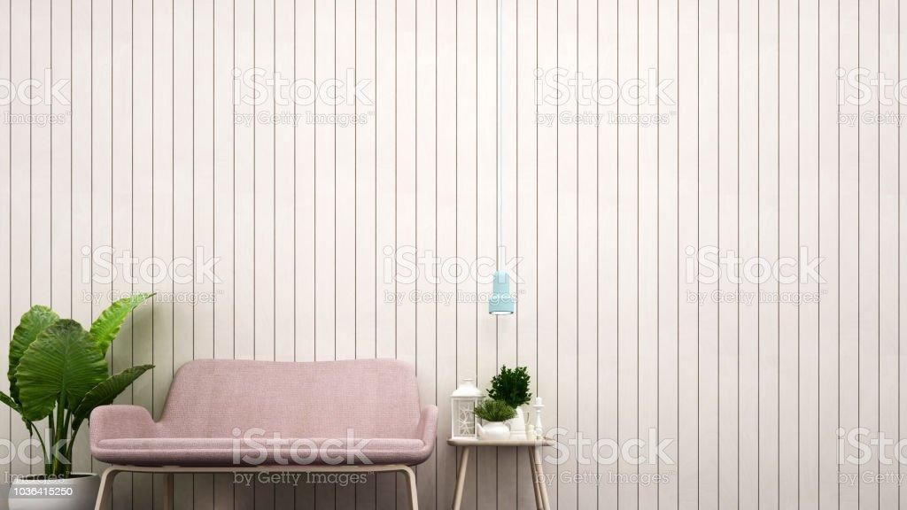 Wohnzimmer Dekoration Weisse Holz Wand Fur Grafik Rosa Sofa Und