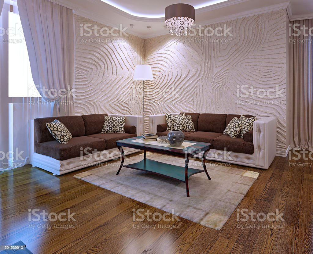 Living Room Ideas With Leather Sofa Stock Photo Download Image Now Istock