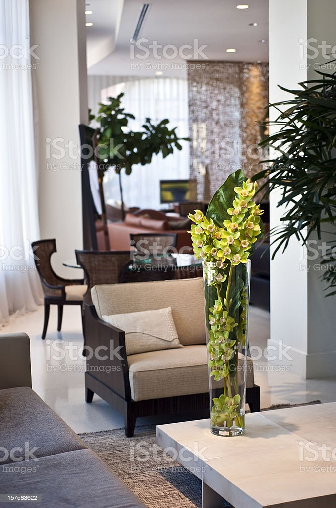 Living room in a furniture showroom