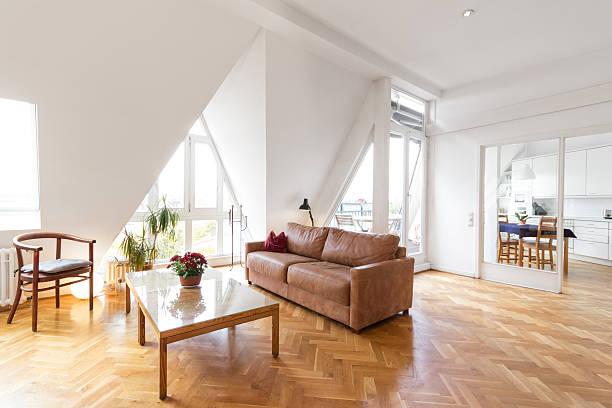 living room in beautiful apartment home - foto de acervo