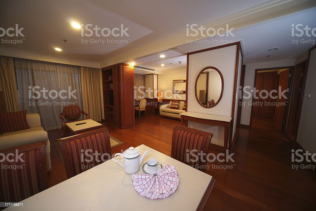 Living room in Hotel suite royalty-free stock photo