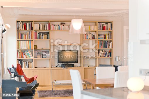 istock Living Room in Luxury Home 498375454