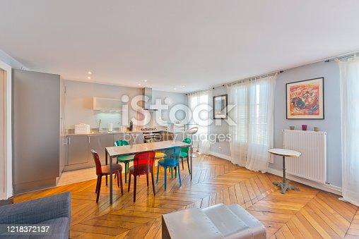 640265128 istock photo Living room in modern studio apartments. 1218372137