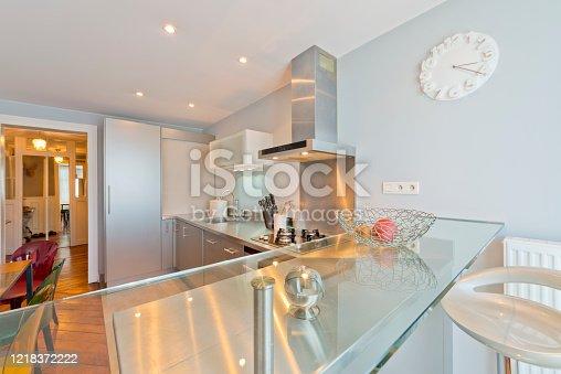 640265128 istock photo Living room in modern studio apartments. 1218372222