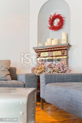 640265128 istock photo Living room in modern studio apartments. 1218372256