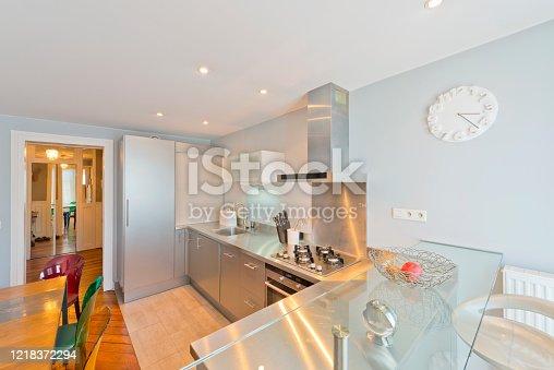 640265128 istock photo Living room in modern studio apartments. 1218372294