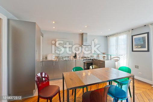 640265128 istock photo Living room in modern studio apartments. 1218372312