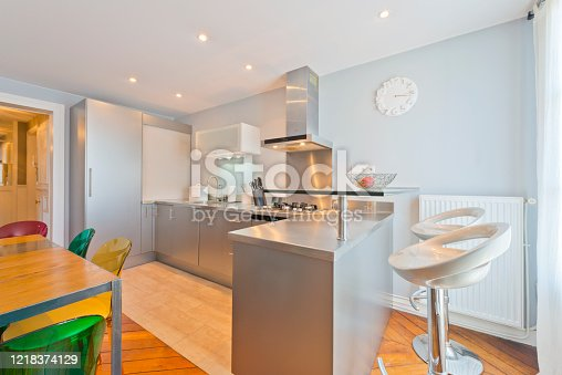 640265128 istock photo Living room in modern studio apartments. 1218374129