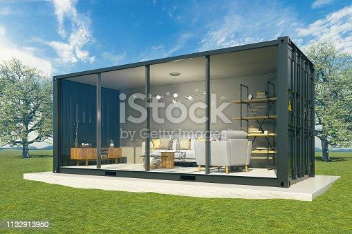Living room inside cargo - Exterior