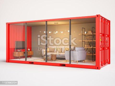 Living room inside cargo