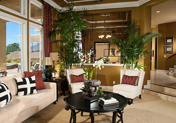 wohnzimmer interior design zu hause - backofenfenster reinigen stock-fotos und bilder