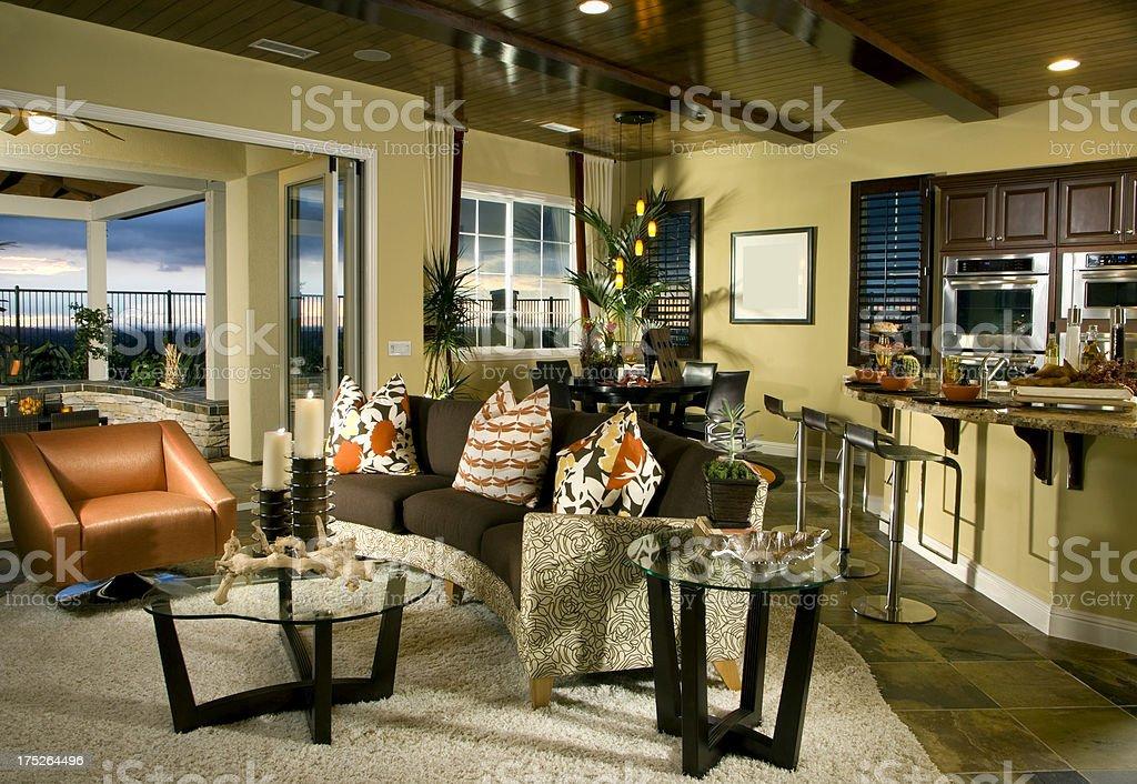 Living room Interior Design Home royalty-free stock photo